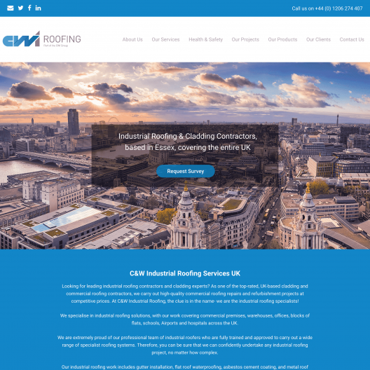 Web Design Service Results for Roofing Contractor