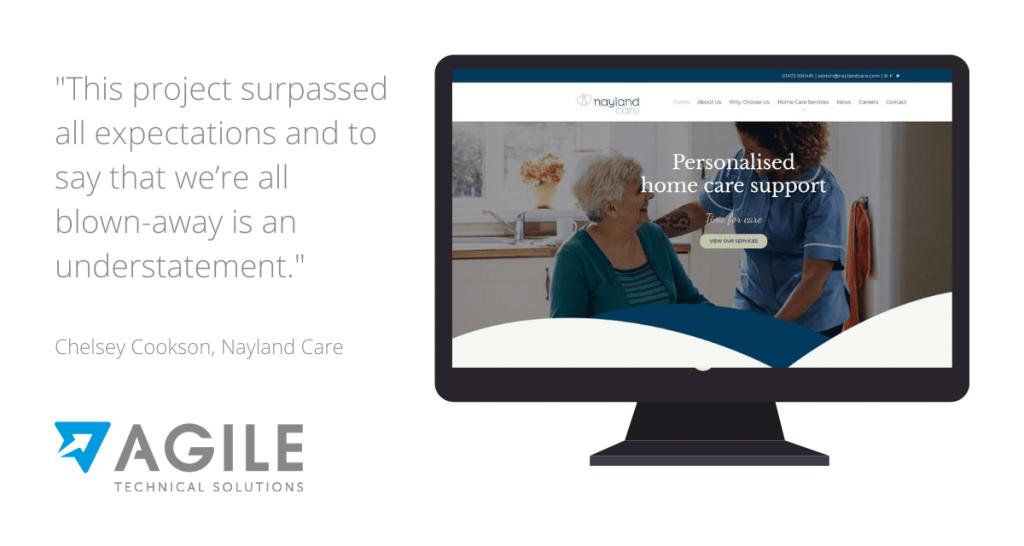 Website Hosting & Web Design for Nayland Care